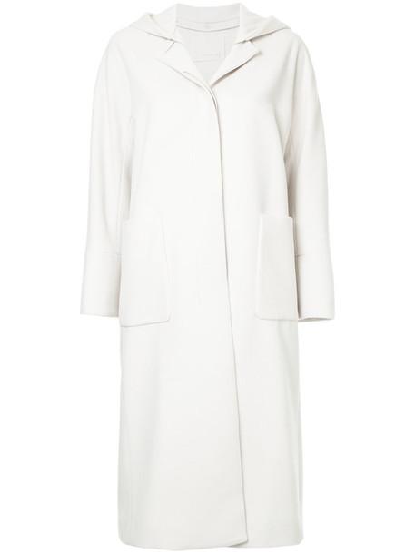 Estnation coat women white wool