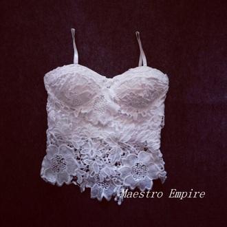 blouse lace corset