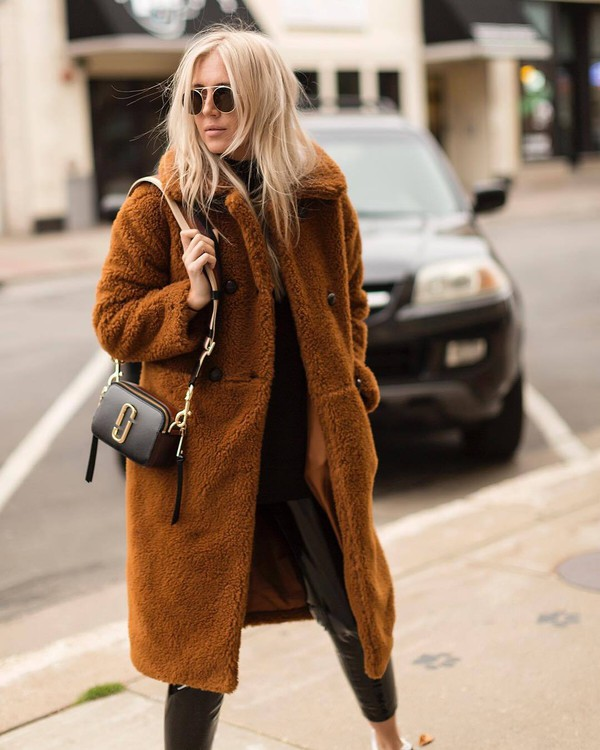 Coat Tumblr Brown Coat Teddy Bear Coat Fuzzy Coat