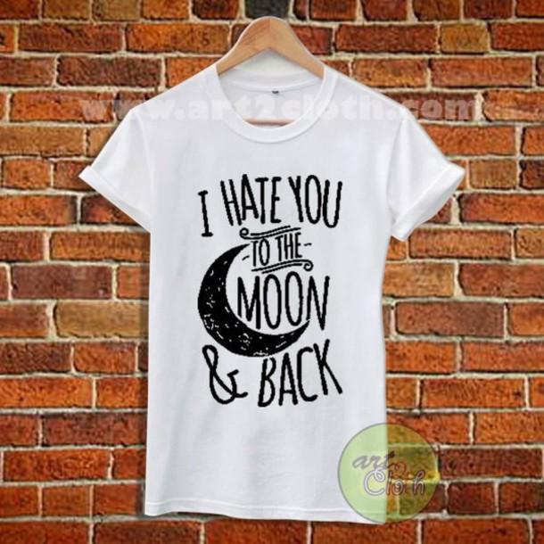 tshirt tees women tumblr gift ideas moon top