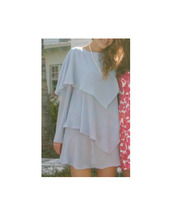dress,clothes,long sleeves,draped dress,periwinkle