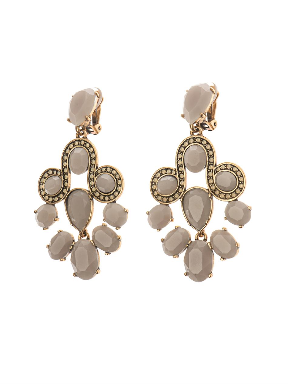 Crystal chandelier earrings | Oscar De La Renta | MATCHESFASHI...