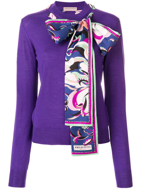 Emilio Pucci sweater women silk wool purple pink