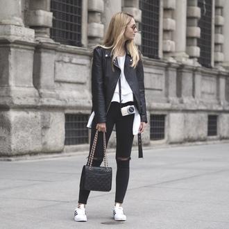 the vogue word blogger jacket blouse bag jewels jeans shoes