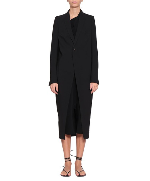 Rick Owens coat wool coat soft wool