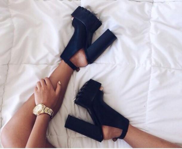 1302483e66b shoes high heels chunky platform shoes cleated sole platform high heels  black heels platform shoes dress