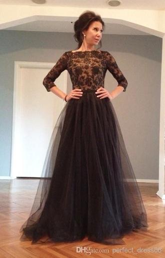 dress black tulle skirt long
