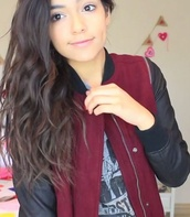 jacket,black,cute,leather man jacket,burgundy