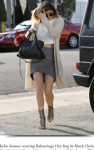 skirt kylie jenner cardigan socks top bag