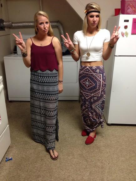 skirt patternskirt maxi skirt hippie aztec
