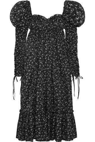 dress maxi dress maxi floral cotton print black