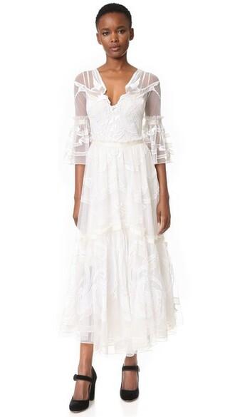 dress midi white