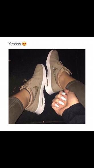 shoes nike nike shoes brown glitter