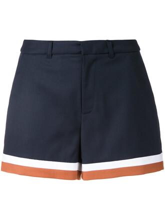 shorts women blue