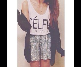 top celfie queen t-shirt celfie tshirt celfie queen white shirt #celfie celfie shorts white black cute tee