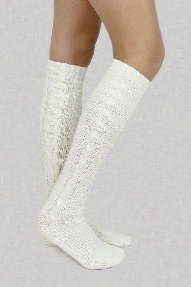 London Town Over the Knee Socks in Cream