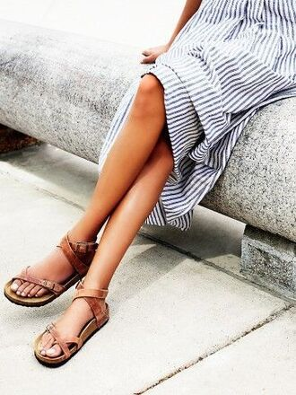 shoes flats leather flats leather sandals birkenstocks dress free people boho boho dress