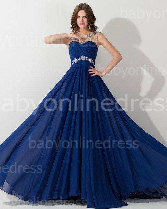 Aliexpress.com : Buy Robe de Soiree 2015 Custom made Fashion Royal Blue Lace Prom Dress Mermaid Chiffon Long Sleeves Evening Dresses EV0188 from Reliable dress panda suppliers on 27 Dress | Alibaba Group