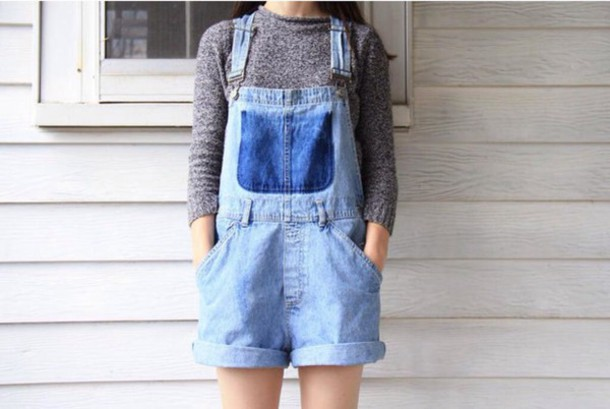 denim overalls short overalls
