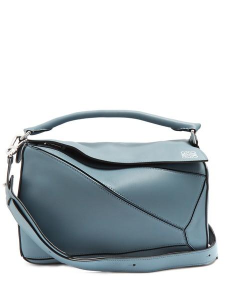 LOEWE bag leather bag leather light blue light blue