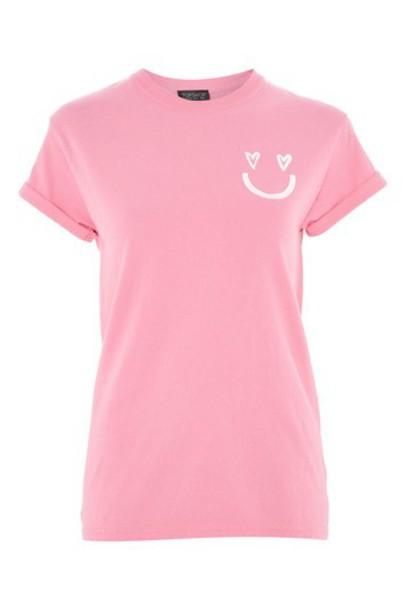 Topshop t-shirt shirt t-shirt pink top