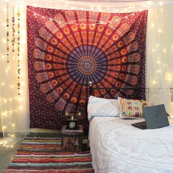 Large Mandala Tapestries Room decor hangings Wall Tapestries Hippie Tapestries Wall Hanging Indian Dorm decor Wall art Boho Tepestries