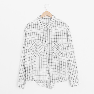 Holypink x newnew checked shirt