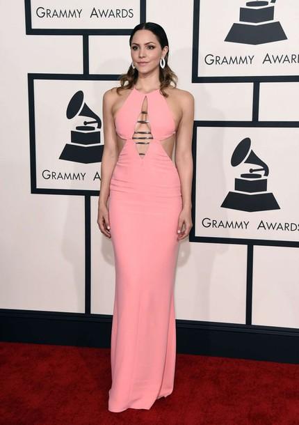 dress gown katharine mcphee grammys 2015