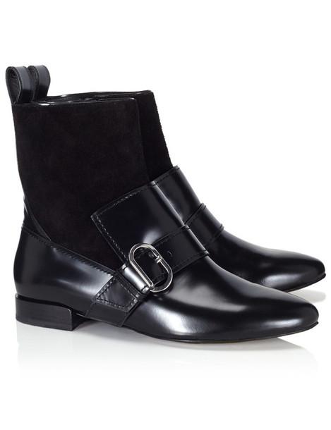 boot leather black black leather