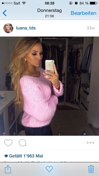 sweater pink pink sweater oversized sweater oversized knitwear knitted sweater