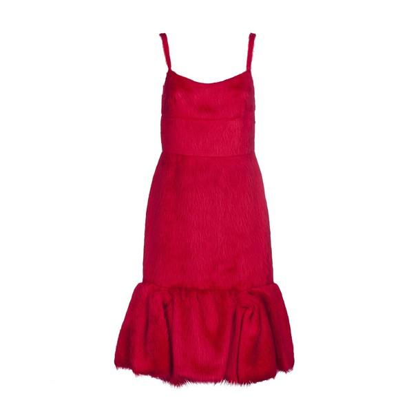 Prada dress fluffy red