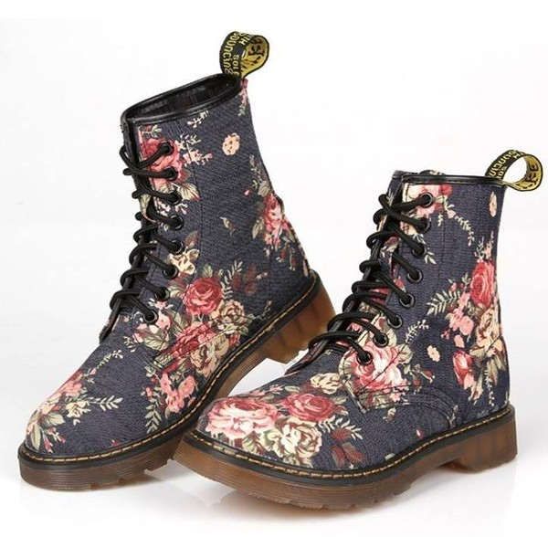 shoes flowers boots timberlands flowered