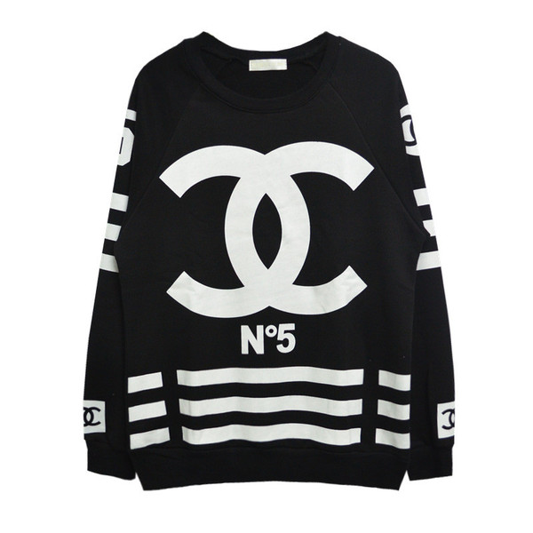 Chanelesque coco n.5 homme femme jersey sweater – glamzelle
