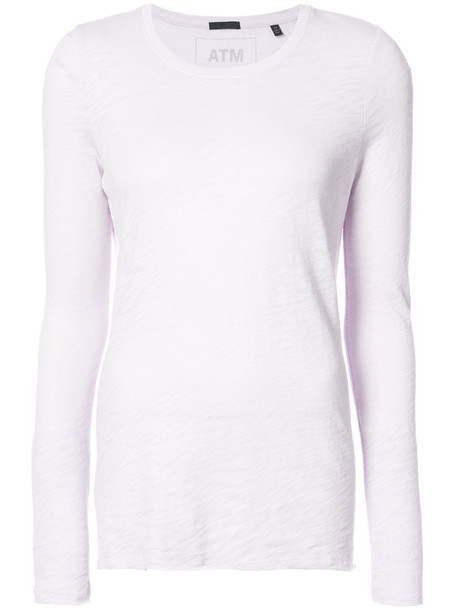 ATM Anthony Thomas Melillo top long women cotton purple pink