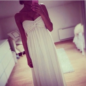 dress maxi dress white bandeau maxi wrap sheer silk knot