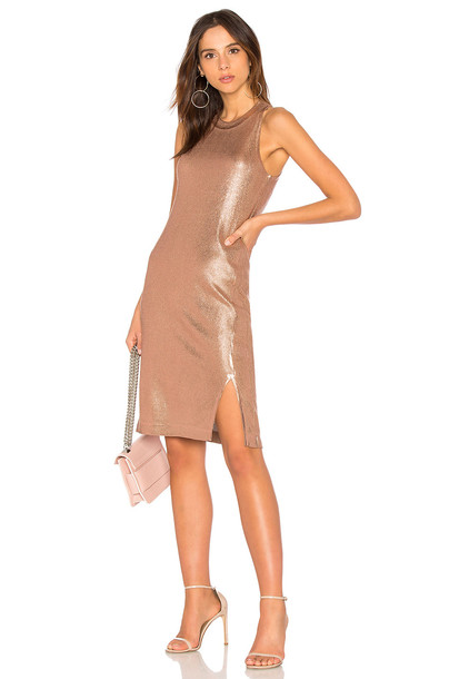 Splendid dress metallic copper