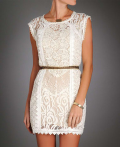 WHITE LACE SHORT DRESS on The Hunt
