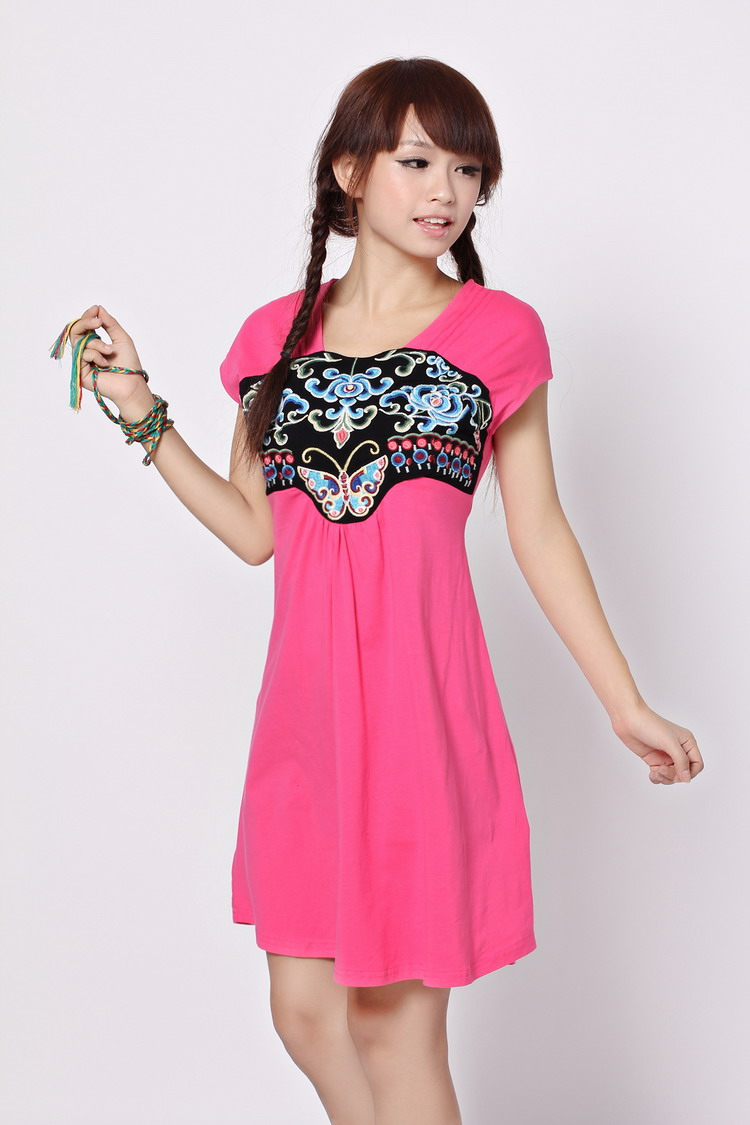 Aliexpress.com : buy original 2013 autumn new neckline embroidery knitted short sleeved dress personality wild c9107 from reliable dress suppliers on panda clothing co., ltd.