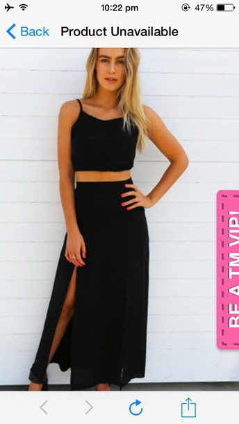 dress matching skirt and top set black skirt black top crop tops shoes