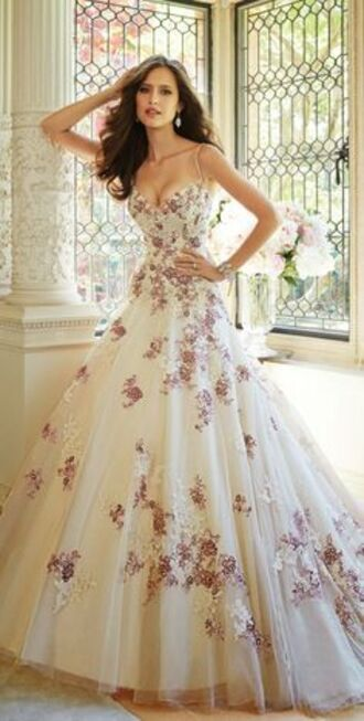 dress wedding dress flower beautiful fashion cute