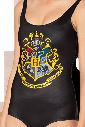 swimwear hogwarts harry potter moviestuff universal studios gryffindor slytherin hufflepuff ravenclaw black