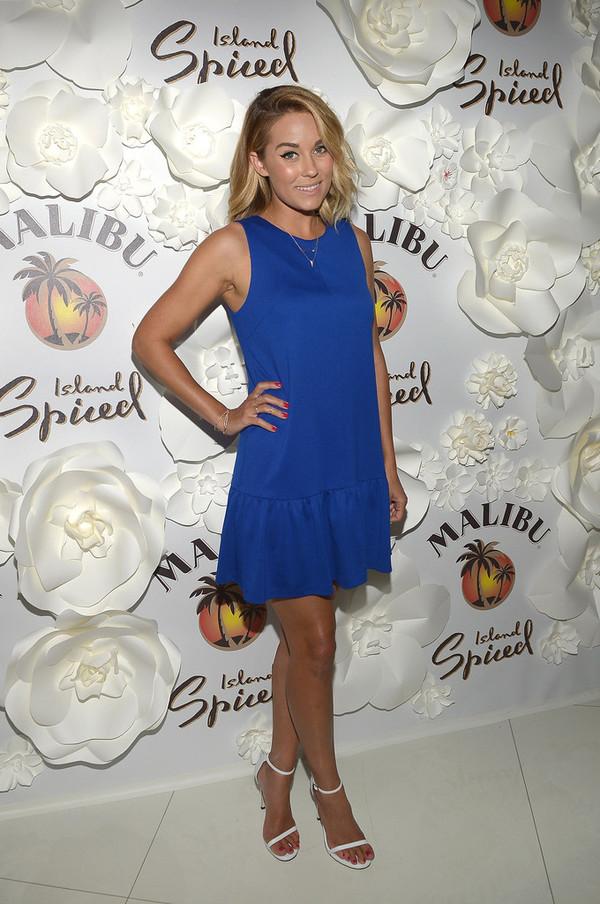 dress blue dress mini dress lauren conrad