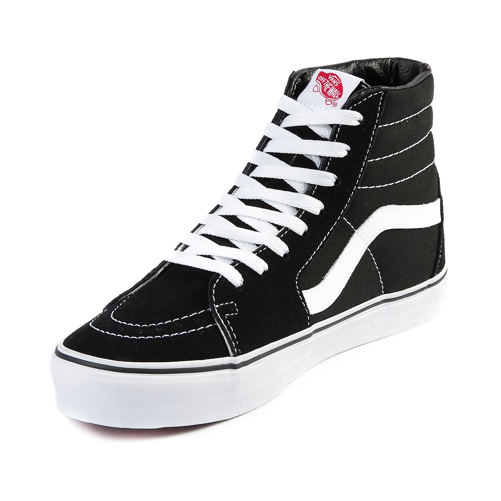 Vans SK8 Hi Skate Shoe, Black White | Journeys Shoes