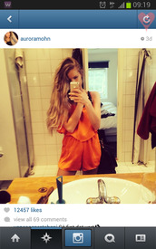 shorts,jumpsuit,tan,orange,summer,beautiful,gorgeous,celebrity,clothes,white,fluffy,jumper,sweater