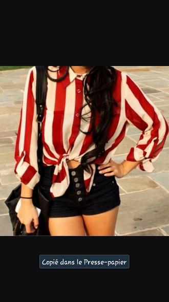 blouse chemisier raye blanc pantalon sac jeans summer outfits selena gomezs blouse