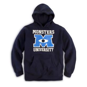 sweater monster university monster university hoodie navy quote on it
