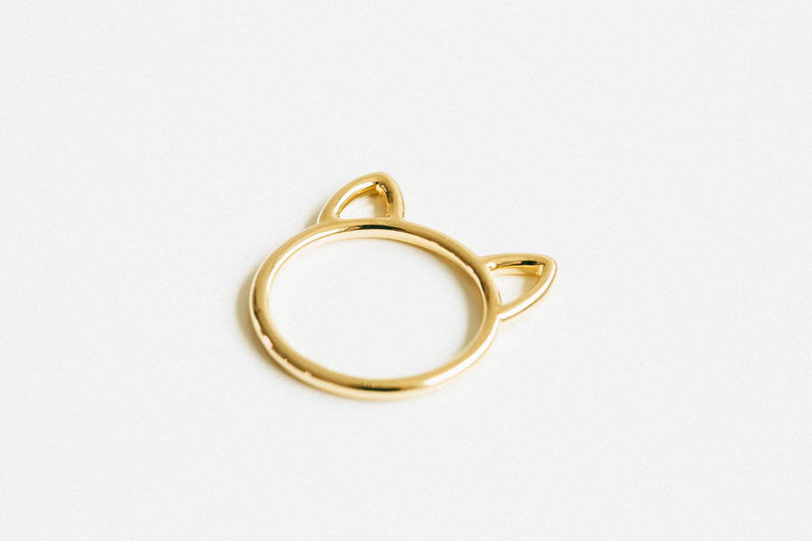 Gold little big kitty ring,cat ring,animal rings,couple ring,cool rings,unique rings,bridesmaid gift,unique rings,womens ring,couple,usadr20