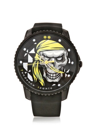 watch black yellow jewels