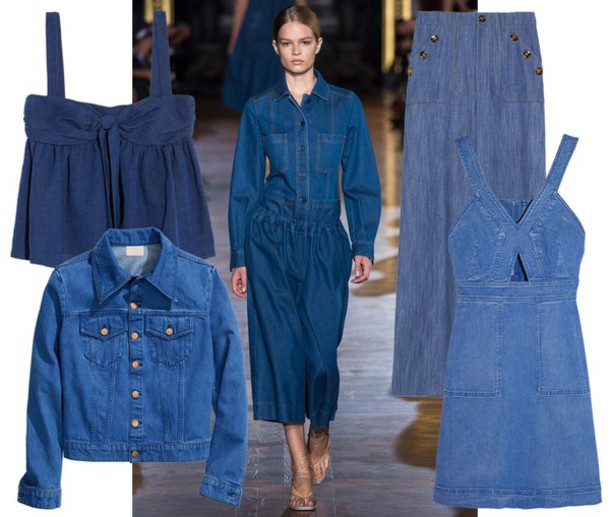 by funda blogger denim denim jacket denim dress wide-leg pants top jacket jeans dress