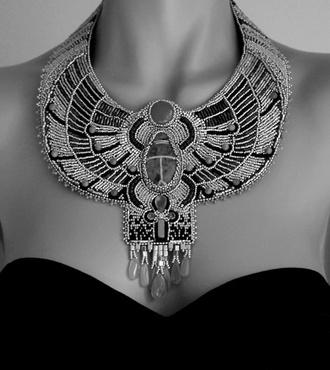 nail polish egyptian boob tube little black dress necklace jewelry jewels